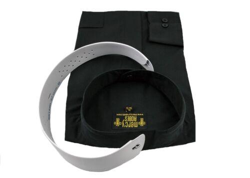 Standard Cuff Pastor Men/'s Black Neckband Clergy Shirt Includes Soft Collar