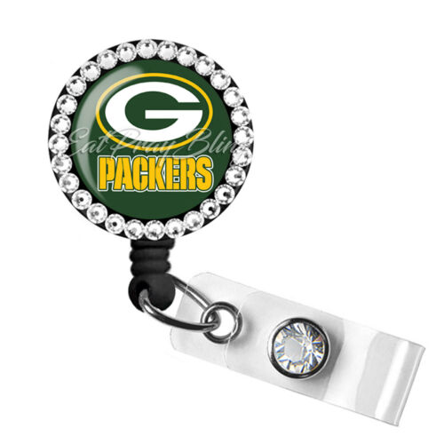 Retractable Badge Reel Name ID Pull Clip Holder Lanyard Green Bay Packers Gift