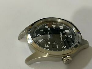 BEAUTIFUL-HAMILTON-KHAKI-LARGE-CASED-GENTS-WATCH-CASE-SET-BLACK-DIAL