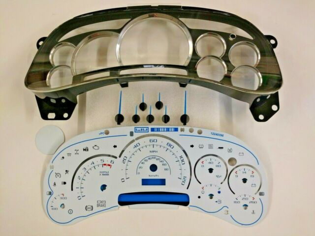 Cadillac Escalade White Gauge Face Kit For 2003 2004 2005