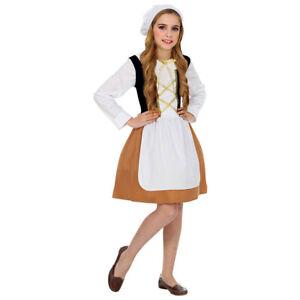 Mittelalter Magd Kostum Haube Kinder Karneval Fasching Fest