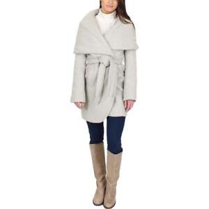 T-Tahari-Womens-Marla-Taupe-Winter-Wool-Blend-Wrap-Coat-Outerwear-BHFO-2129