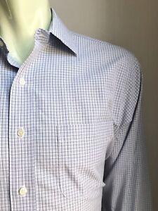 Brooks Brothers Shirt, Berkeley Plaid, L (16-1/2, 33), Regent / Slim, Exc Cond