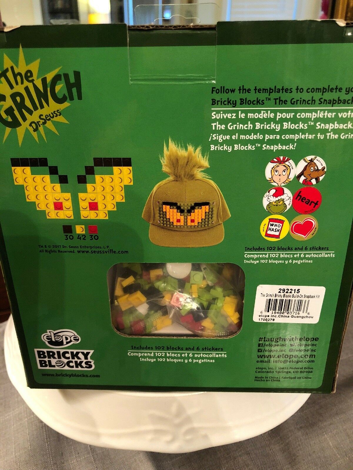cc98004d63a53 Bricky Blocks Dr. Seuss Grinch Hat for Kids and Adults by elope for sale  online