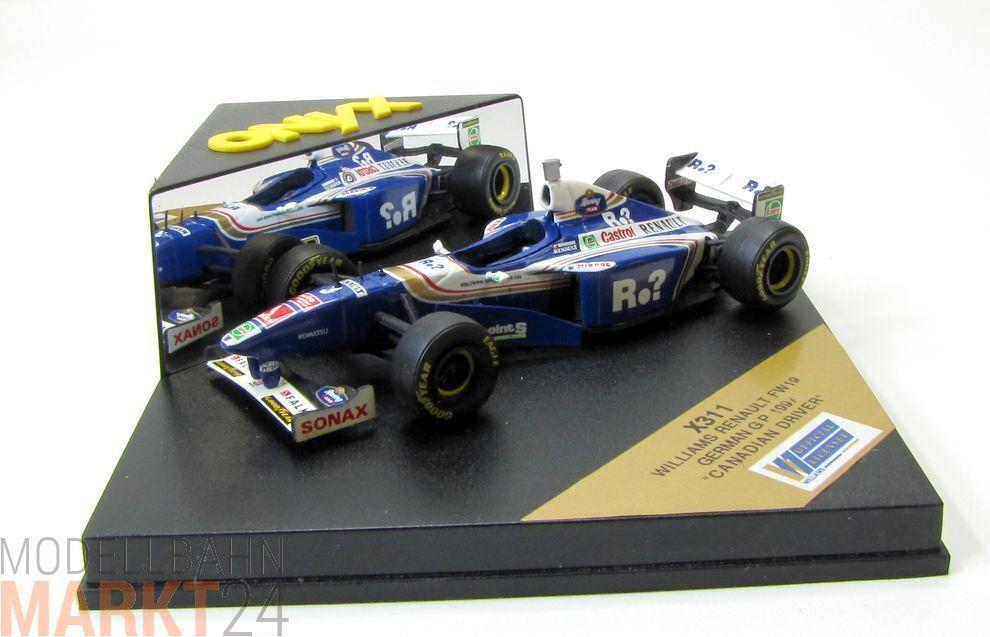 Onyx x311 williams renault fw19 de 1997 en en en azul modelo en escala 1 43 - Embalaje original 960e83