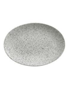 NEW Maxwell & Williams Caviar Speckle Oval Plate 35x25cm Cream 9315121760971