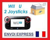 2 Capuchons Caps Button Thumbs Stick Noir Black Joystick Nintendo Wii U Gamepad