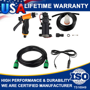 Portable 12V Jet Spray Car Wash Washer Gun High Pressure Electric Water Pump Set