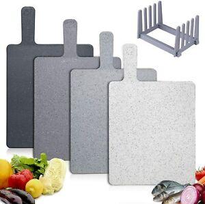 Set 4 Taglieri Da Cucina Con Ripiano & Maniglia Plastica Senza BPA Kit Durevole