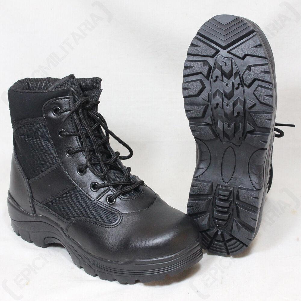 botas De Seguridad Negro Medio-Invierno Thinsulate Forrado botas De Combate De Ejército Militar