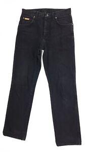 Wrangler-Jeans-Texas-Herren-W32-L32-Schwarz-Straight-Denim