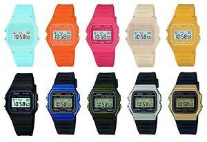 eddc25305c17 Casio Watch F-91W Digital Chronograph Resin Strap for Ladies Gents ...