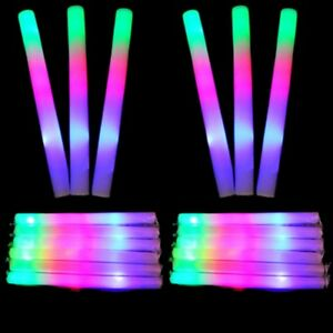 New-Multi-Color-LED-Foam-Stick-Light-Up-Wands-Cheer-Batons-Rally-Rave-Kids-Party