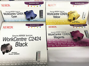 Xerox WorkCentre Phaser C2424 Solid Ink Black/Magenta 108R00661 108R00664 NEW