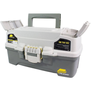 Fishing Tackle Box One Tray Gear Hooks, Lures Lightweight Sturdy, Bait Storage
