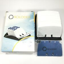 New Rolodex Rotary Business Office Card File 67082 Black 250 Cards Amp Index Tabs