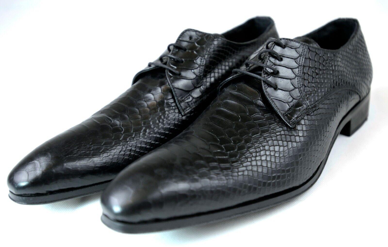design semplice e generoso nero Crocodile Handmade Italian Leather Leather Leather Dress scarpe Oxford scarpe 46,  presa di fabbrica