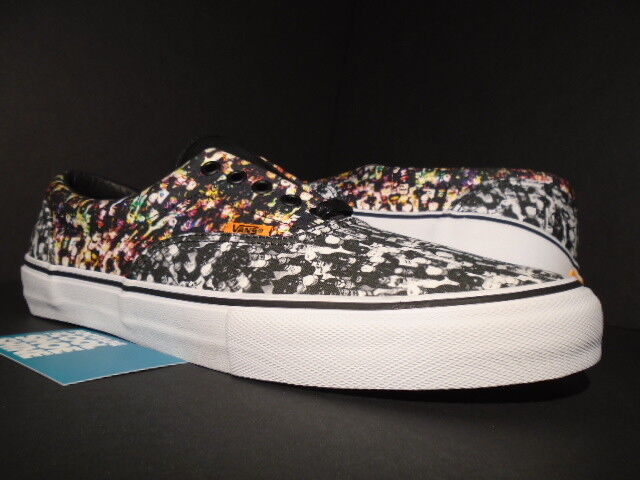 2014 VANS ERA PRO S FLASCHEN BLACK WHITE MULTICOLOR AUTHENTIC VN-0RQTF4S NEW 12