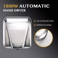 Wall Mounted Electric Hand Dryer 1800W Compact Stainless Steel Hygiene Dryer