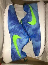 e5e7b8034324 item 1 New Mens Nike Roshe Run Print Size 9 Photo Blue  Electric Green  655206-430 RARE! -New Mens Nike Roshe Run Print Size 9 Photo Blue  Electric  Green ...