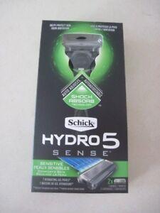 SCHICK-HYDRO-5-SENSE-SENSITIVE-RAZOR-1-HANDLE-amp-2-CARTRIDGES-NEW