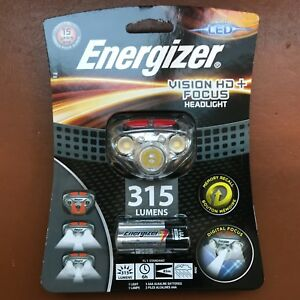 NEW Energizer Vision HD+ Focus 315 Lumens Headlight LED with 3 AAA Max batteries 7638900412802