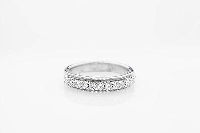 Estate $3400 1ct VS G Diamond 14k White Gold Wedding Band Ring
