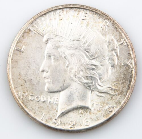1926S $1 Peace Dollar, BU Condition, Excellent Eye Appeal, Full Mint Luster