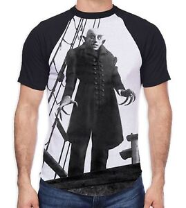 Nosferatu-the-Vampire-Ship-Men-039-s-All-Over-Baseball-T-Shirt-Goth-Gothic-Horror