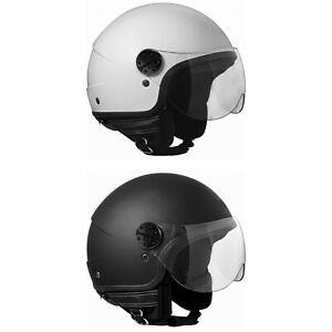 Casco-Demi-Jet-Open-Face-Cgm-109A-Florida-para-Moto-y-Scooter-Legal