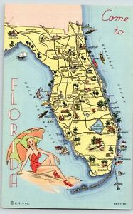 Florida~State Map~Quincy to Homestead~Fern