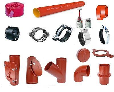 SML Abfluss-Rohr DN 50 70 80 100 125 150 Rohr Gussrohr in verschiedenen Längen