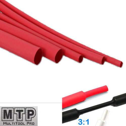 "Pk 25//50 6/"" 3:1 Heat Shrink Tubing Adhesive Lined Dual Wall Black 9.5mm 3//8/"""