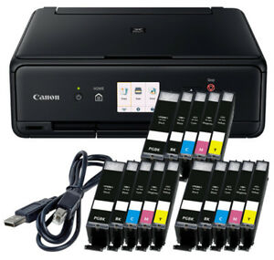 Spar-Set-Canon-Pixma-TS-5050-DRUCKER-SCANNER-KOPIERER-WLAN-15x-XL-TINTE-USB