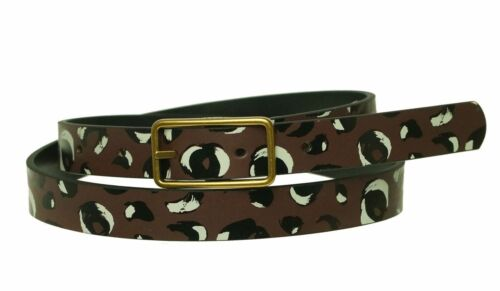 Fossil Women/'s Printed Reversible Cheetah Leather Belt Size M # BT4300989M
