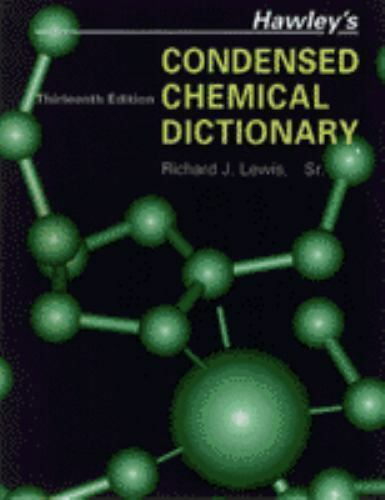 Hawleys Condensed Chemical Dictionary Pdf