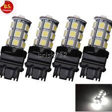 4X 3157 White 18SMD 5050 Reverse Brake/Stop/Turn Tail Back Up LED Light Bulb