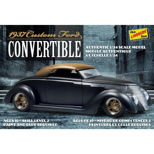 129 GALAXY RC 1937 Ford Custom Convertible car 1:25 plastic KIT LINDBERG