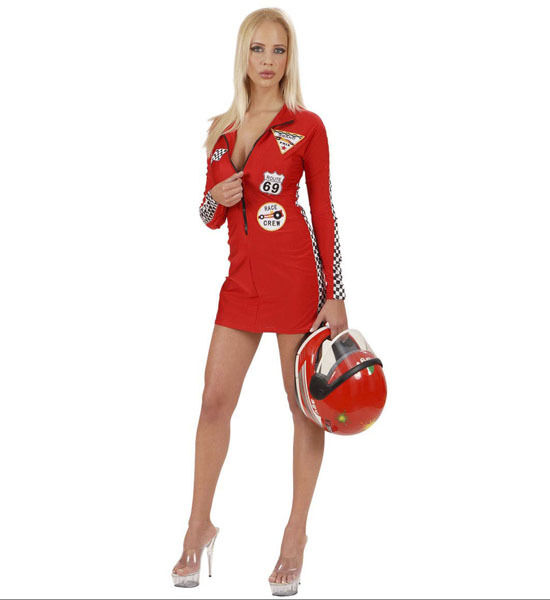 *SALE * GRAN PRIX BABE FANCY DRESS COSTUME FORMULA ONE RACING SEXY RED DRESS