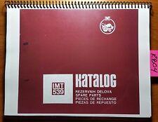IMT 539 Tractor Traktor Spare Parts Catalog Katalog Manual Multilingual