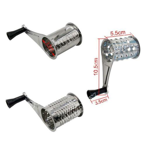 High quality Kitchen Rotary Stainless Steel Cheese Grater 3 Drums Slice Shred uk