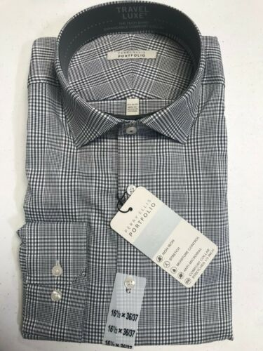 Men/'s Perry Ellis Portfolio Travel Luxe The Tech Shirt Non Iron Moisture Control