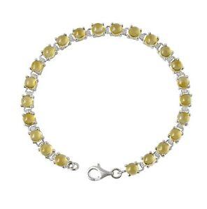 Citrine-Gemstone-Sterling-Silver-Tennis-Bracelet-Set-In-Rhodium