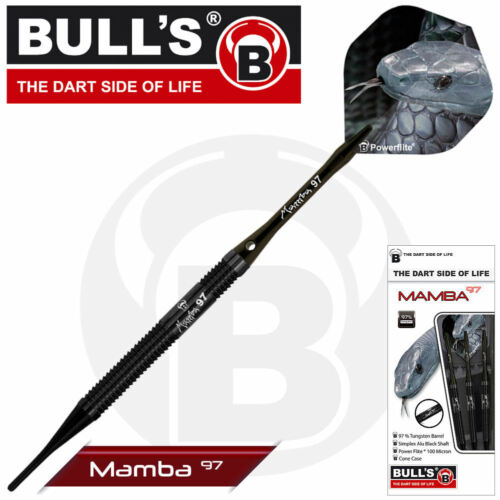 BULLS BULL´s Soft Darts Dartset Dartsatz Dart Black Mamba M1 20 gr 18430