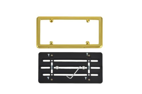 GOLD Frame for PORSCHE FREE SHIPPING Front Bumper License Plate Bracket