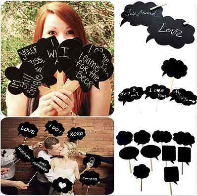 10x DIY Photo Booth Props Speech Bubble On A Stick Wedding Birthday Party Signs