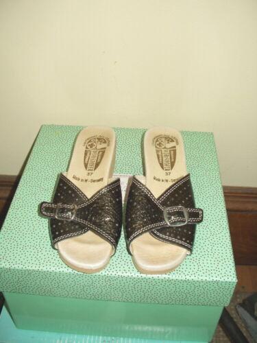 Worishofer Sandals 6.5-7 / 37 Slides - Bronzy Leat