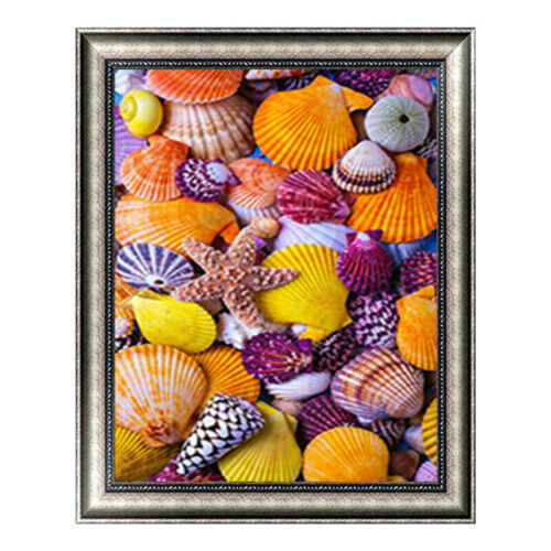 Shell Full Drill DIY 5D Diamond Painting Cross Stitch Kits Mosaic Decor Beach