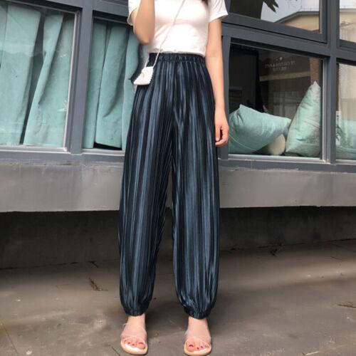 Damen Palazzo Culottes Sommer Freizeithose Lose Weites Bein Hosen Slim Hosenrock