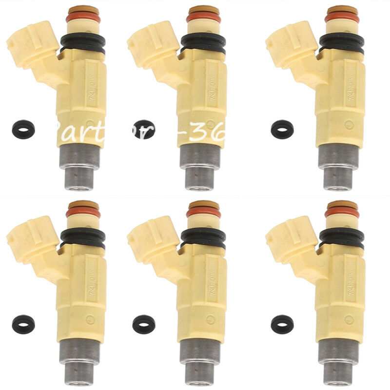Set 6 OEM Injector F200 F225 for Yamaha 02-12 200HP 225HP Four Stroke Outboard